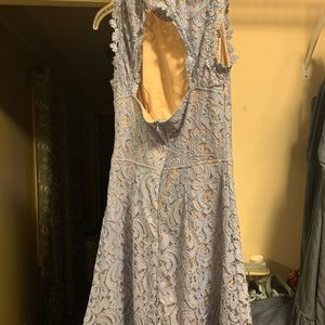 Periwinkle dress with open back